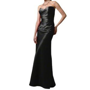 Alfred Angelo Black Satin Lace Up Back Gown- Sz. 2
